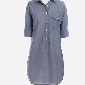 J. Crew popover blue chambray tunic small